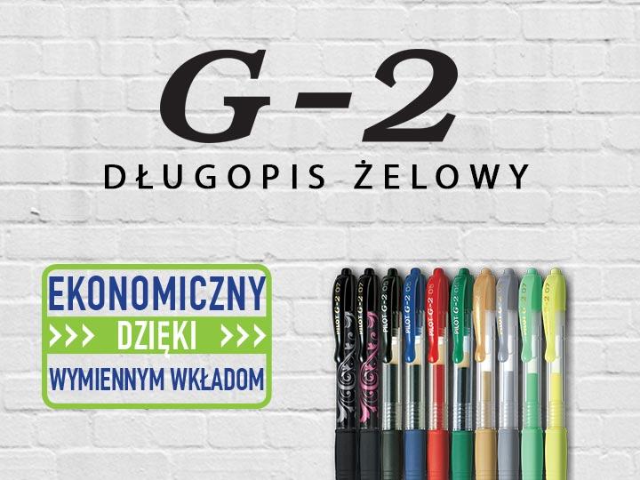 Długopisy żelowe Pilot G-2