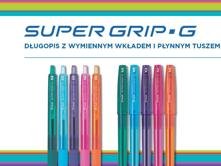 Długopisy olejowe Pilot Super Grip G Neon