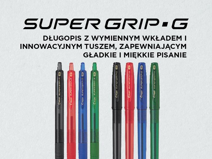 Długopisy olejowe Pilot Super Grip G