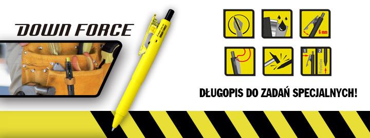 Down force Pilot : długopis do zadań specjalnych