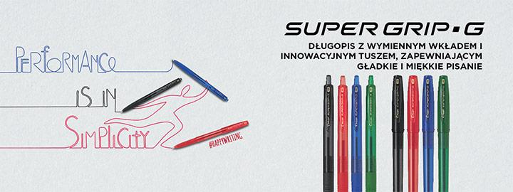 Pilot Super Grip G długopisy olejowe
