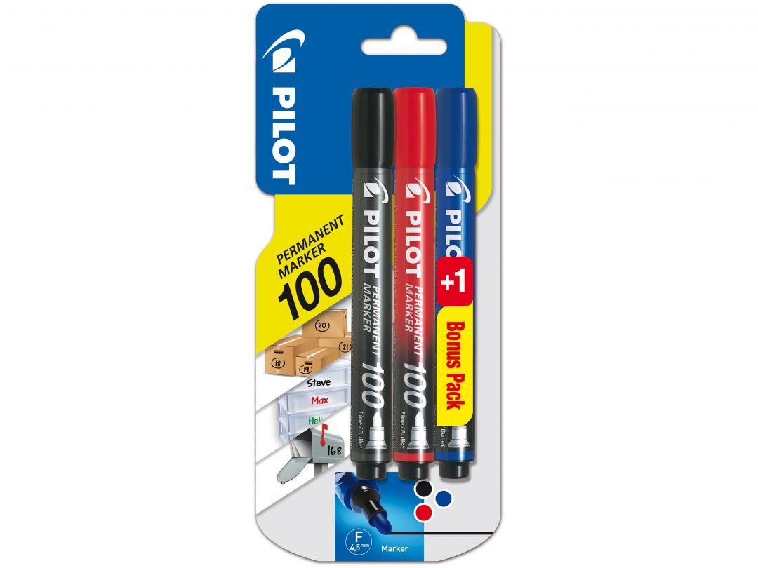Blis 2+1 Permanent Marker 100 Fine B/R/L