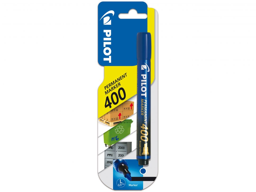 Blis Permanent Marker 400 Broad Blue