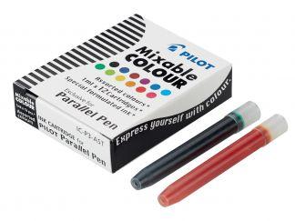 Parallel Pen - Opakowanie 12 nabojów - Assorted colors - Płynnym tuszem