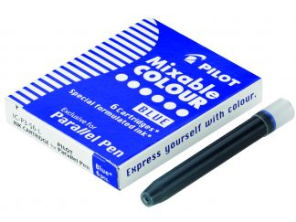 Parallel Pen - 6 nabojów - Niebieski - Płynnym tuszem